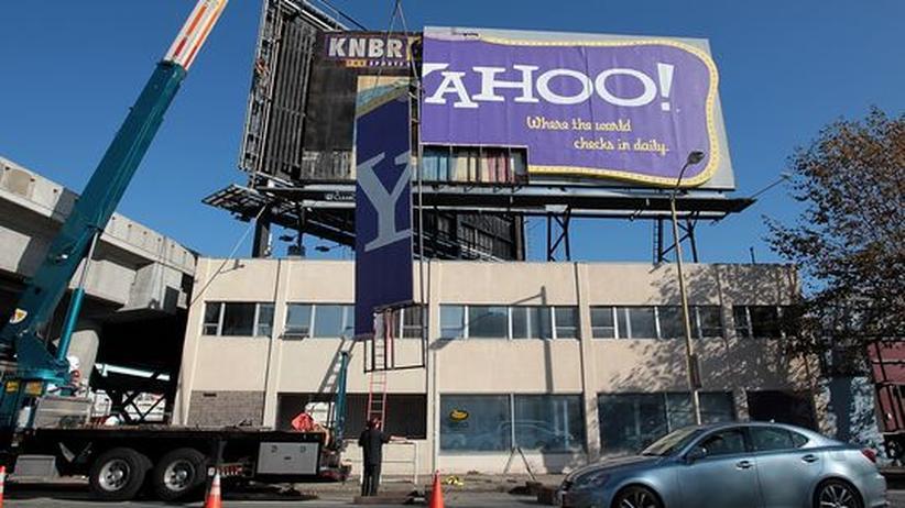Börsengang: Yahoos bekannte Werbetafel in San Francisco, aufgestellt im Jahr 1999, wurde im Dezember 2011 abgebaut.