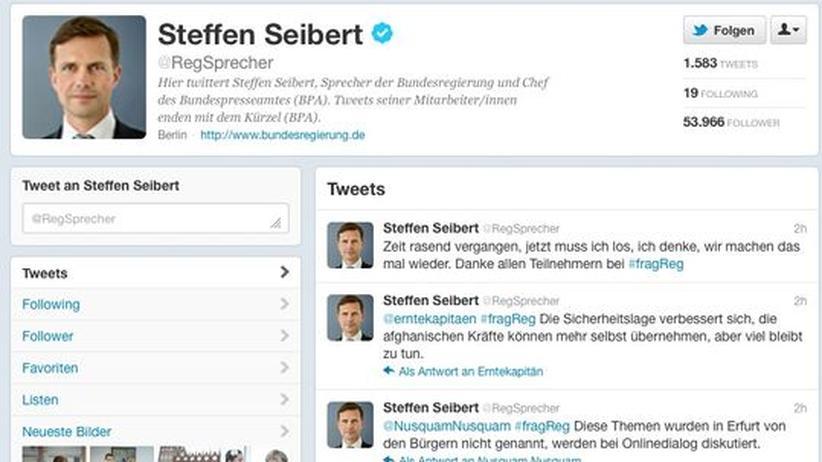 """Twitter: """"Twitterview""""-Experiment des Regierungssprechers misslingt"""