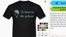 Garantiert keine Probleme mit den Rechten gibt es bei Seiten wie beispielsweise Zufallsshirt.de, die verwendeten Bilder stehen unter freien Lizenzen.