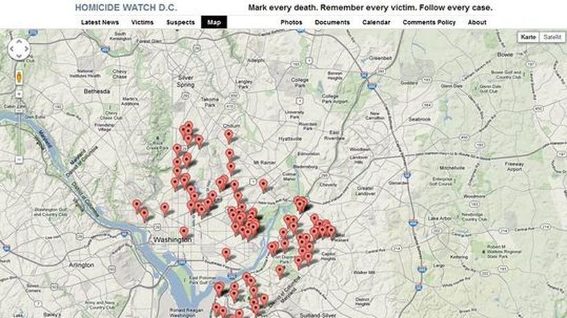 Datenjournalismus: Eine Karte des Verbrechens