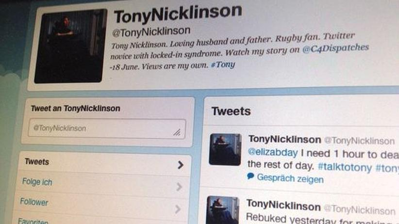 Sterbehilfe: Tony Nicklinsons Twitter-Account