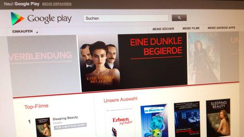Filmangebot bei Google Play