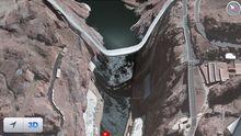 Verschobene Apple-Darstellung der Brücke über den Hoover-Damm in den USA