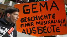 Protest gegen die Gema in Berlin