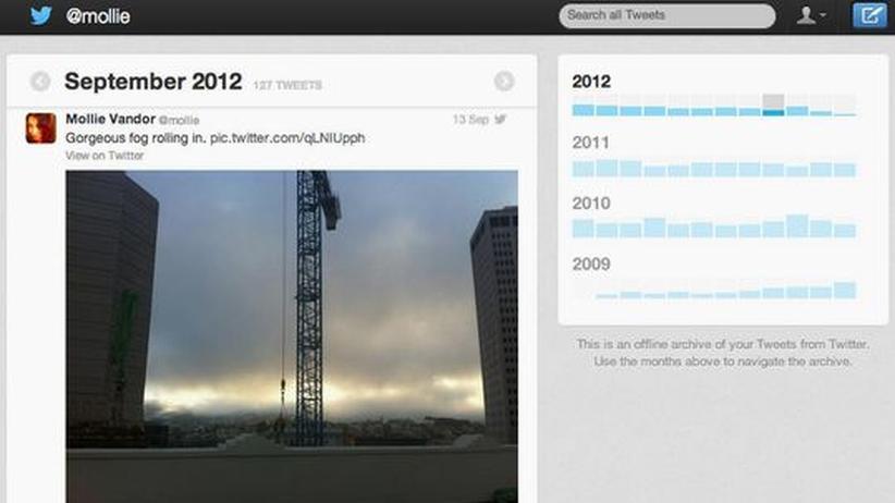 Soziales Netzwerk: Twitter übergibt Nutzern persönliches Archiv