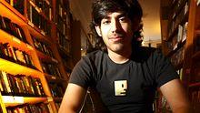 Aaron Swartz auf einer Aufnahme im Februar 2008