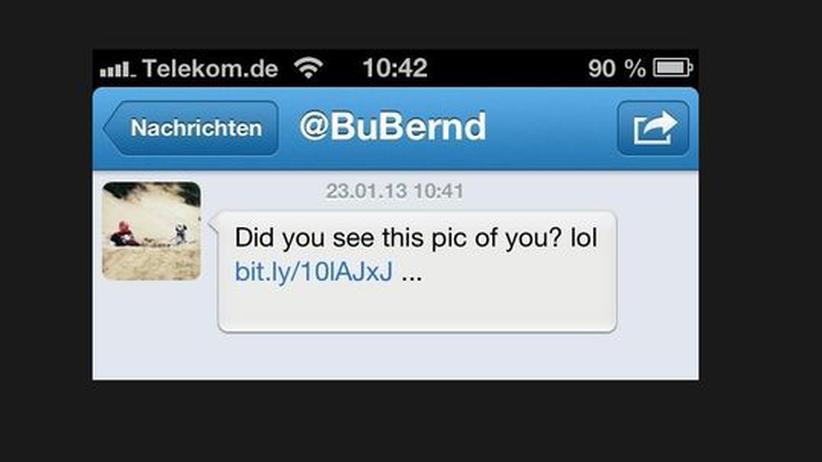Spam – Direct Message vom Account des Bundesvorsitzenden der Piratenpartei Bernd Schlömer