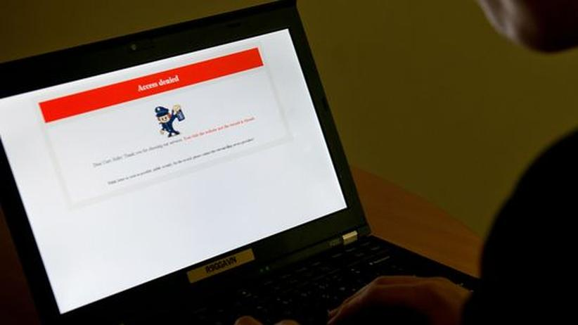 """Zugang verweigert – Website eines chinesischen Magazins namens """"Annals of the Yellow Emperor"""", das im Januar nach einem kritischen Artikel blockiert wurde."""