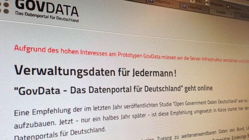 Offene Daten: Deutsches Datenportal bisher weder offen noch erreichbar