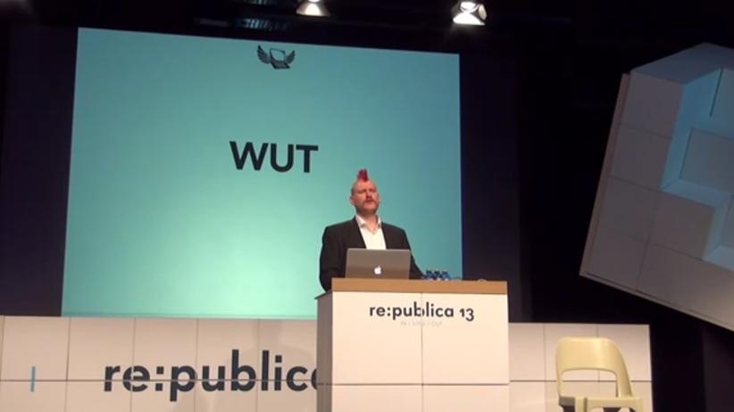 Vortrag von Sascha Lobo bei der re:publica 2013