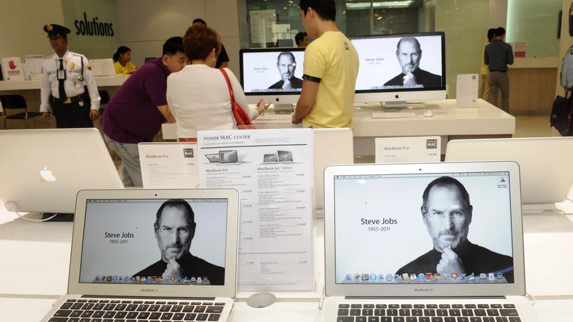 Trauerseite für Steve Jobs im Netz – sein Vermächtnis macht es Menschen nicht leicht, digitale Güter zu erben.