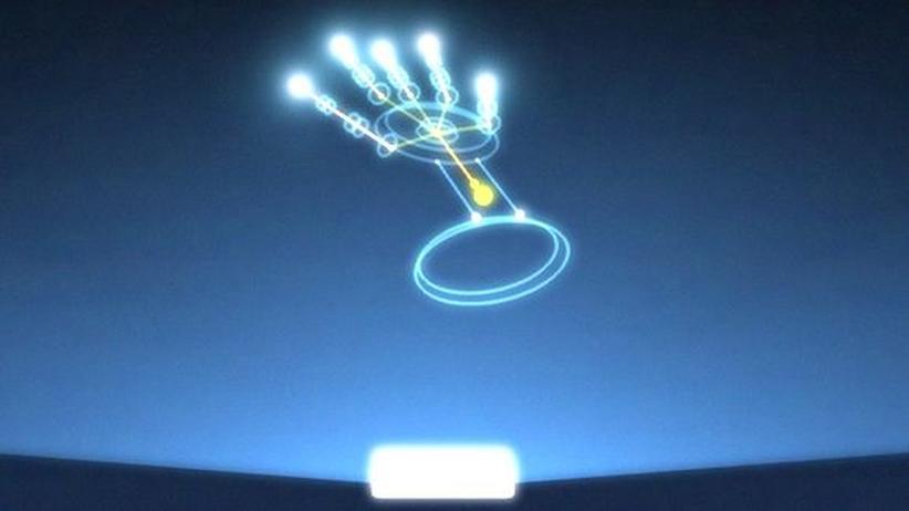 Handerkennung im Tutorial des Leap Motion Controllers