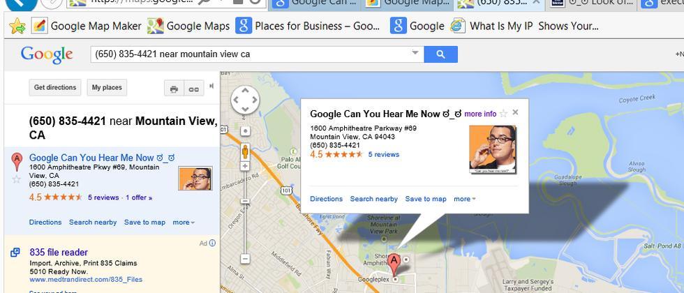 Google Maps manipuliert