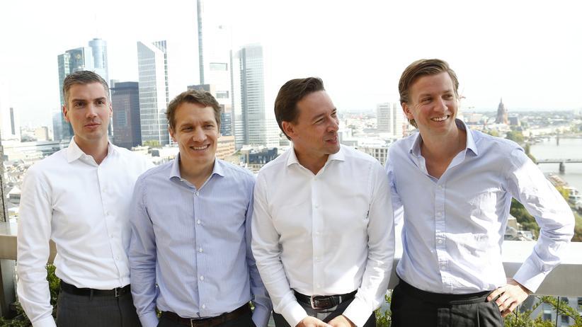 Die Führungsriege von Rocket Internet (v.l.n.r.): Johannes Bruder, Oliver Samwer, Peter Kimpel und Alexander Kudlich