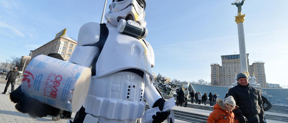 Ein Storm Trooper in wichtiger Mission