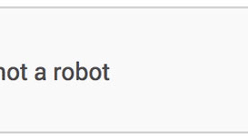 Die neue reCaptcha-Checkbox enthält nur einen Haken.