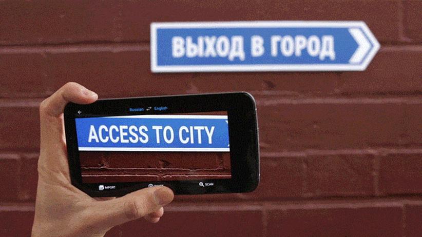 Digital, Google Translate, Übersetzung, Google, Microsoft, App, Sprache, Skype, Bing, IPad, Russland, New York, San Francisco, São Paulo