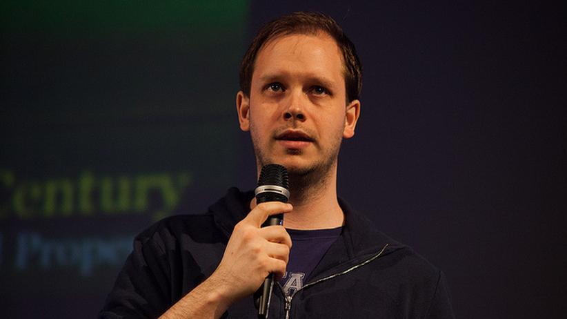 Peter Sunde auf einer Konferenz