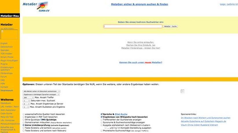 MetaGer: Digital, MetaGer, Suchmaschine, Hannover, IP-Adresse, Google, Yahoo, Bing
