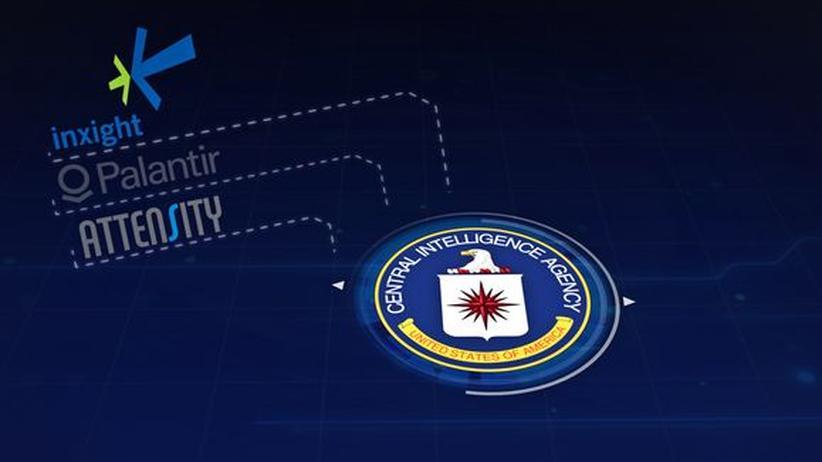 Eine Grafik der ARD zeigt, dass die mit SAP verbundenen Firmen Inxight, Attensity und Palantir alle für die CIA arbeiten.