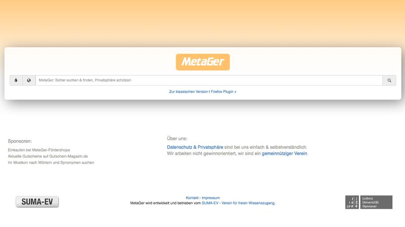 MetaGer: Update für die deutsche Suchmaschine