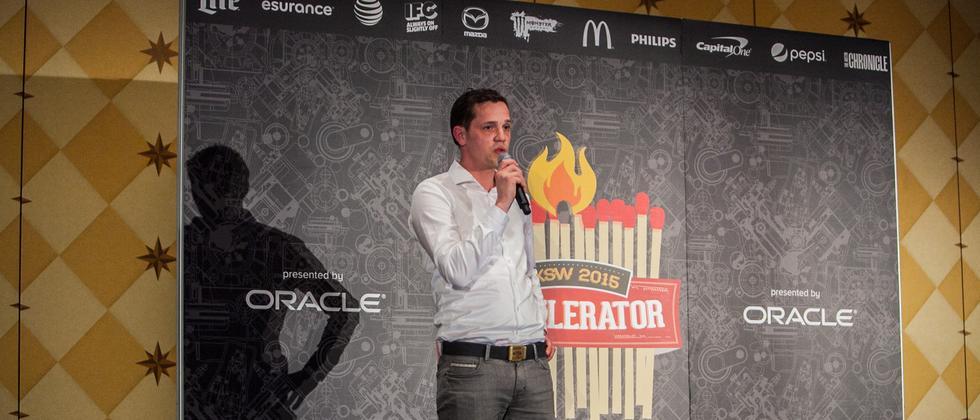 Sonormed-Geschäftsführer Jörg Land auf dem SXSW in Austin