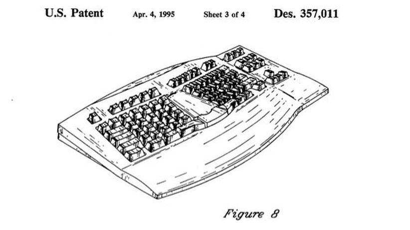 1995 patentierte Microsoft das Natural Keyboard.