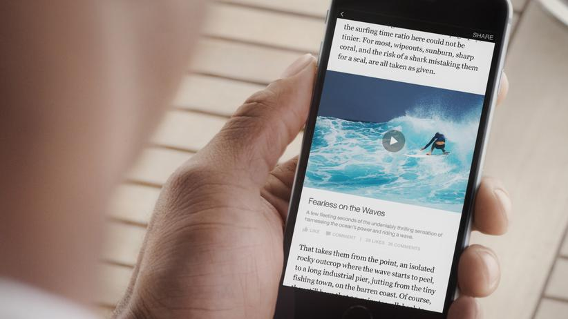 "Instant Articles: Neue Facebook-Funktion: ""Instant Articles"" bringt Medieninhalte direkt in die Facebook-App."