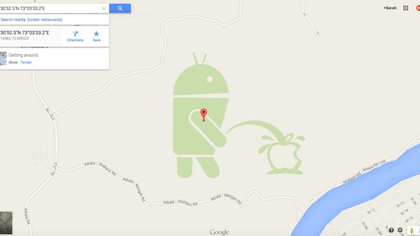 Google Maps: Der pinkelnde Androide war zu viel | ZEIT ONLINE
