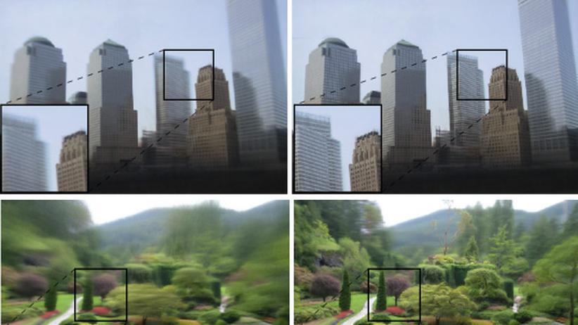 """Ein Algorithmus """"harmonisiert"""" die Einzelbilder."""