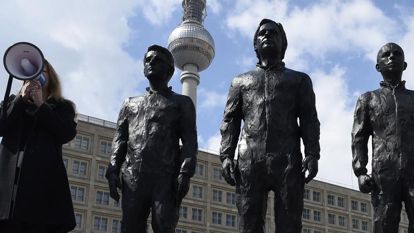 Snowden-Denkmal in Berlin