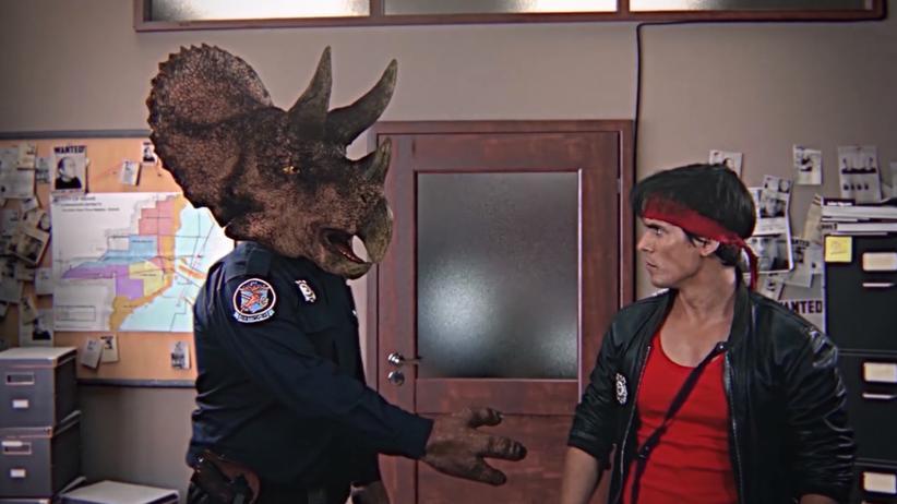 Kung Fury und sein Kollege Triceracop