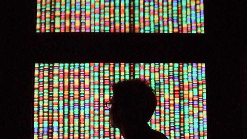 Eine digitale Repräsentation des menschlichen Genoms.