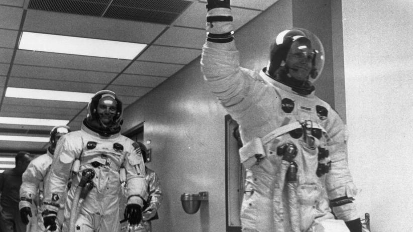 Neil Armstrong: Anzug im Angebot, kaum getragen