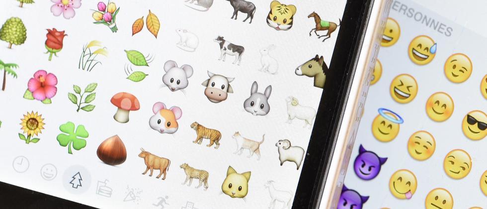 Die Darstellung der gleichen Emojis unterscheidet sich zum Teil.