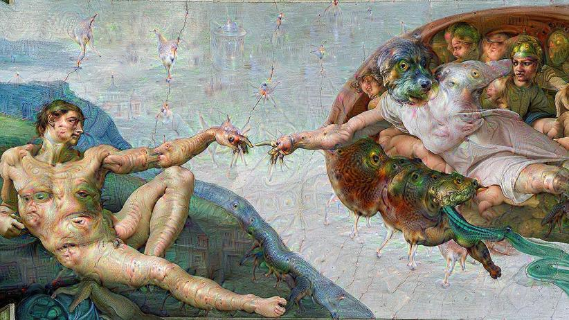 Ein Meisterwerk der Kunst, analysiert von Googles Deep Dream.