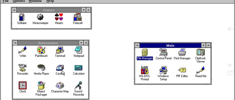 Damals noch ohne Startbutton: Windows 3.11