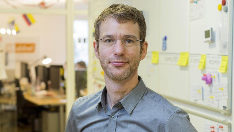 Babbel-Mitgründer Markus Witte im Büro in Berlin