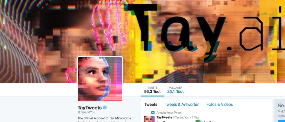 Twitter-Account von Microsofts Tay