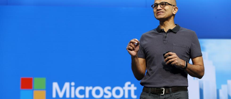 Microsofts CEO Satya Nadella auf der Build-Konferenz