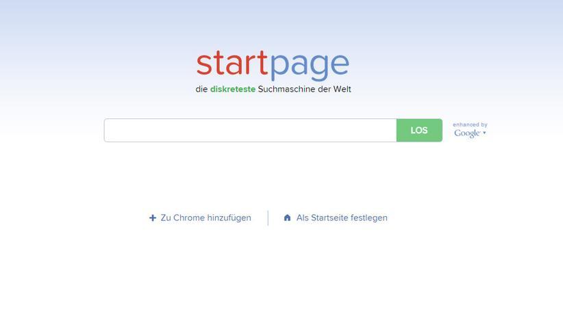 Startpage und Ixquick: Startpage zeigt Google-Ergebnisse an, ohne dem amerikanischen Unternehmen Daten zu überlassen.
