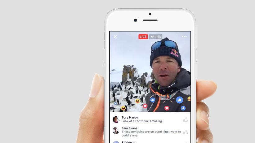 Zuschauer können mit Emojis auf Facbeook Live reagieren.
