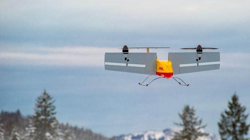 Paketdienst : DHL gelingt Test mit Lieferdrohnen