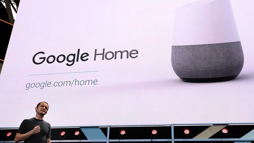 So sieht Google Home, der smarte Lautsprecher, aus.