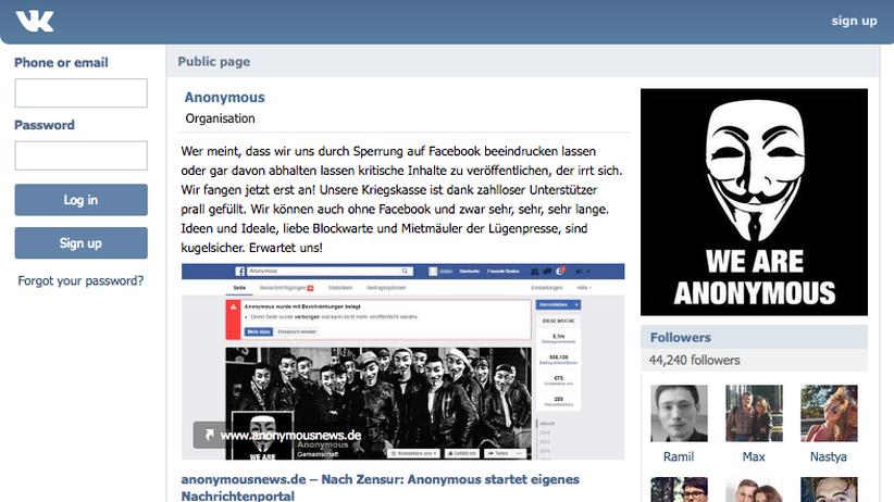 Anonymous.Kollektiv auf VKontakte