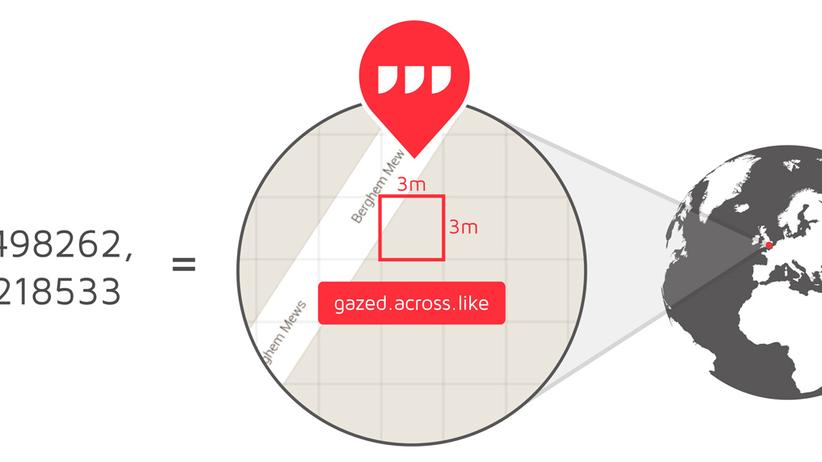 Jeder Sektor ist neun Quadratmeter groß.