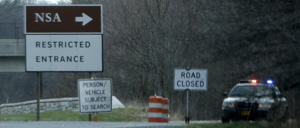 Einfahrt zur NSA in Fort Meade