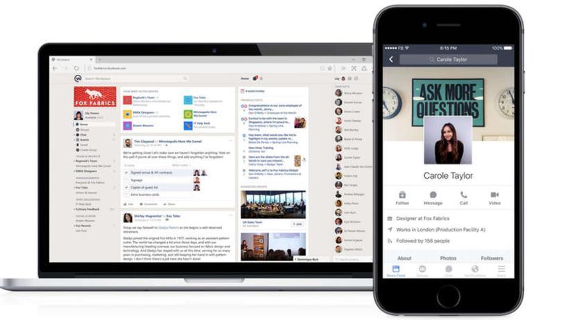 Facebook will mit seiner Plattform Workplace in die Büros.