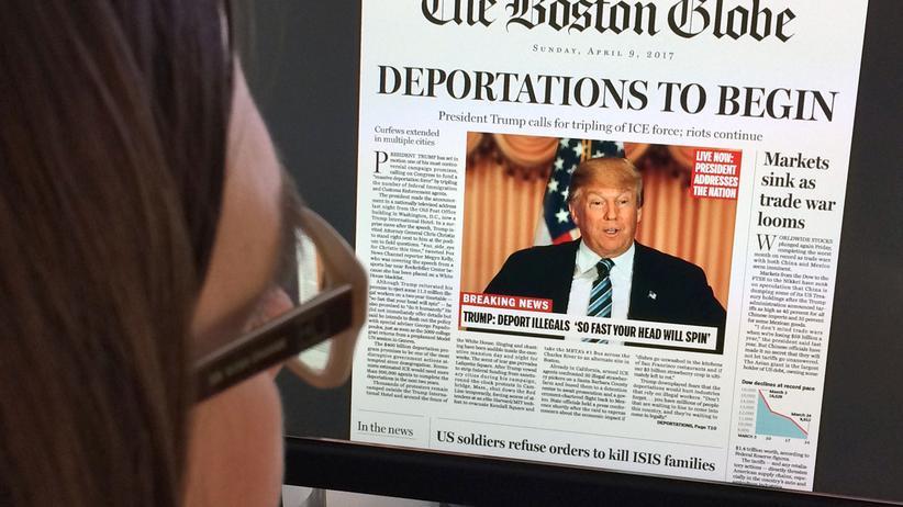 Gefälschte Ausgabe des Boston Globe