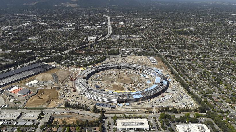 Künstliche Intelligenz: Attraktiver Arbeitgeber für Akademiker? In Cupertino wird gerade der Apple Campus 2 gebaut.